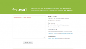 Fractal - Email HTML-CSS Validation